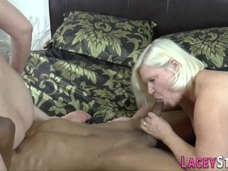 Hot Gilf Sucks Black Knob - Hard Fuck