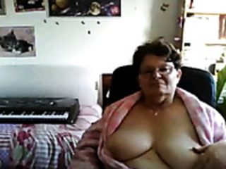 One perverted granny showed me her saggy big boobs