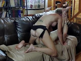 Romantic Sensual PEGGING STRAPON - Intimate LOVE-MAKING - Real PASSIONATE SEX