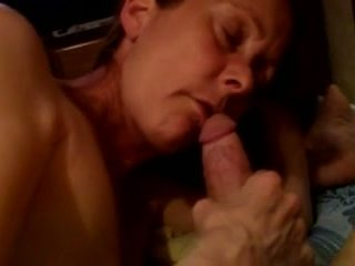 My extremely nasty wife sucks my hard cock with great passion