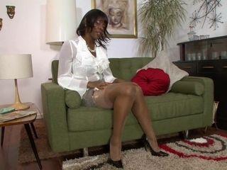 Big Boobed Ebony MILF Hot Solo Video