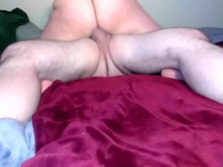 Milf sucks and fucks bull while husband is away, rides, and orgasms over and over again!