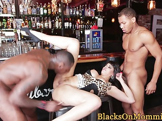 Well-dressed milf backterracial banged changeless back prohibition