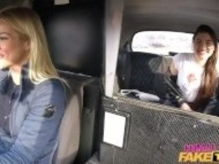"""Female Fake Taxi Backseat lesbian orgasm lessons"""