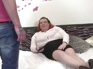 Fat mature lady gets nailed by young stud