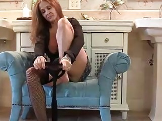 Busty woman looks so fucking hot when she takes off her panties and starts sucking dick