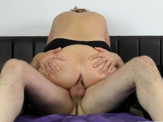 Camilla loudly moans as she takes big cock
