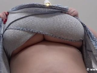 Voluptuous MILF with huge natural melons solo