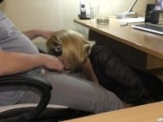 """""""Slutwife swallows multiple loads at the office"""""""