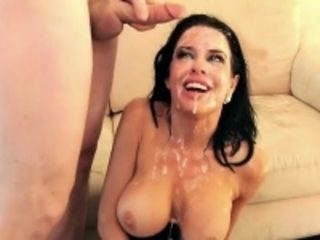 Mature brunette gets fucked by a group