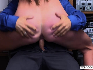 Shoplifter Sofie Marie luvs LPs bigcock inwards her beaver