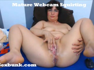 Granny Porn - Squirting Lovely Pussy From This Old Mature for Webcam Show