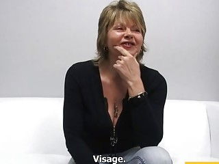 53 year old Drahomira fucks at the casting
