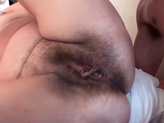 Young fucks hairy mature pussy