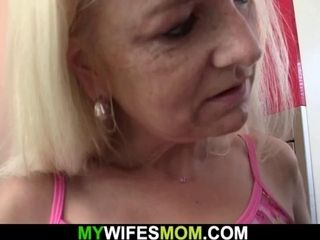 Hairy old mother-in-law seduces boy into taboo sex