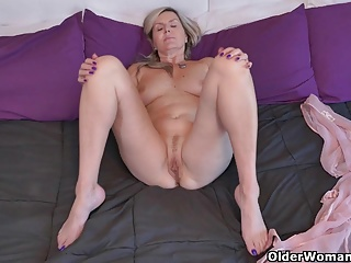 Canadian milfs Bianca and Velvet indulge in masturbation