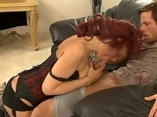 Red Headed Momma Nikki Sinn Stuffs Her Soaked Throat With A Young Sweet Cock