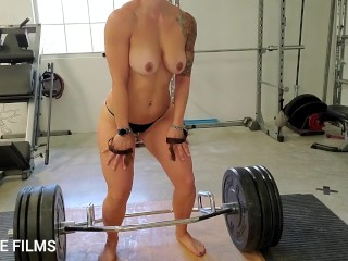 'Fit Milf iPLEDGE deadlifts and dances naked in the gym'
