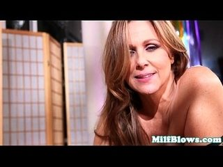 Busty finelooking MILF cocksucks younger guy