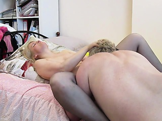 Lusty older tiger gets to exploit this blonde hottie's crea
