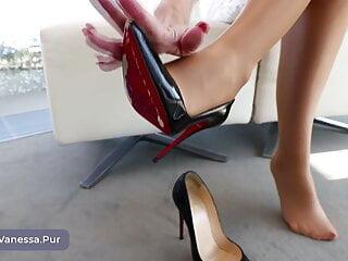 Vanessa put on some nice heels