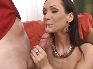 sexy milf anal fucking on the couch