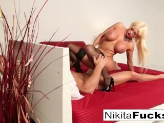'Nikita Von James takes a big dick'