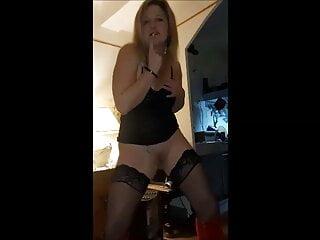 beautiful horny milf dancing
