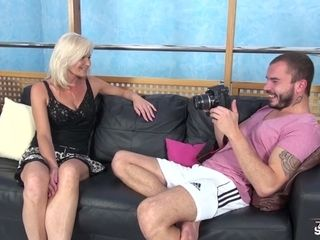 Cougar Clarisa undresses And plows For An casting - FakeShooting