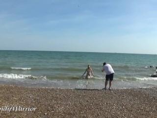 'Seabathing in my Iron Maiden Corset'