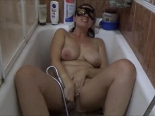 Naughty Wife Masturbates In The Shower