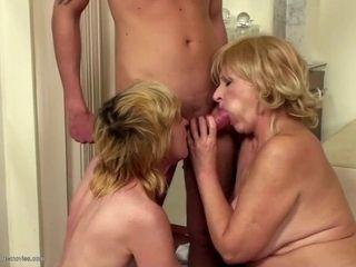Boys fucks cums and piss on mature moms
