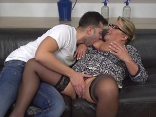 Big Breasted Mama Fucking And Sucking Her Toy Boy - MatureNL