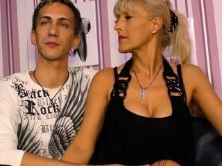 AmateurEuro - Silicone-titted German blonde in her 40s goes