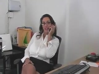 Mom in an office