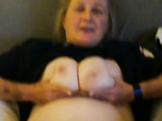 Chubby matured yellowish haired nympho on touching heavy boobies enjoys ribbing will not hear of flout