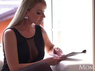 Mother blond Russian cougar Elen Million blow-job and piledriver pummel
