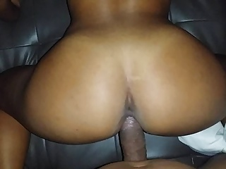 Long stroking his British wife's pussy from behind!!!