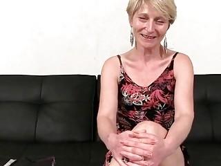 Horny short haired granny gangbang video