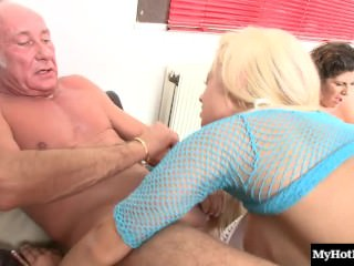 Paige Ashley and Lou Lou are horny sluts that love pleasing older men.