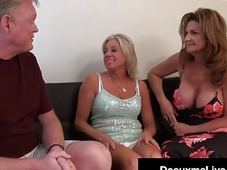 Wild Wife Deauxma & Hard Hubby Bang Cougar Payton Hall!