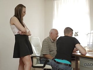 DADDY4K. Redhead damsel couldn't fight back to charms of...