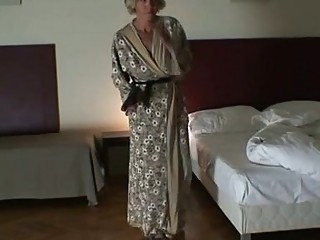Mature babe is slammed by two robbers