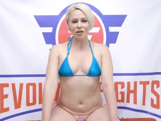 'Lesbian Sex Fight Threesome With Helena Locke Wrestling London And Lilly Licking Pussy and Strapon For The Losers'