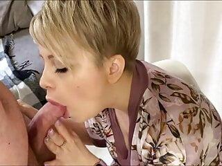 dirty slut Yana sucks cock