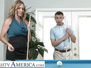 Naughty America - Hot blonde Milf Kenzi Foxx and a cock
