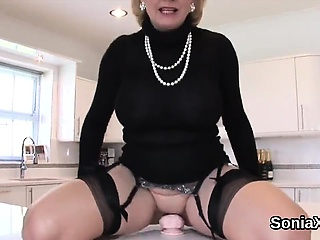 Adulterous british milf gill ellis shows her monster tits