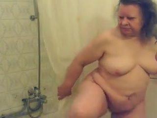 My delightful grandma at shower. Hidden cam