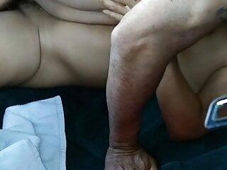 Cumshot on Latina belly