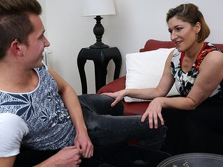 Crazy german housewife frolicking with her fucktoy guy